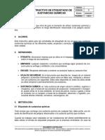 SSA-In-09. Instructivo de Etiquetado de Sustancias Químicas