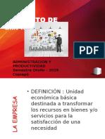 Concepto Empresa y Productividad (1)
