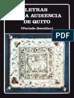 AAVV - Letras de La Audiencia de Quito