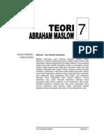 Materi 07 - TeoriAbrahamMaslow