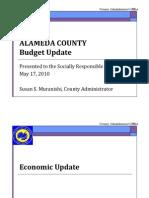 Alameda County Budget Update 5/17/10