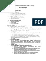 Job Description Personil Kamar Bedah