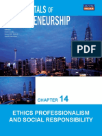 Chapter 14 Ethics Professionalism and Social Responsibility