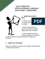 Guia Formativa de Prevención de Riesgos Laborales Para Conductores