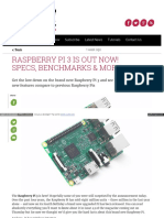 Raspberry Pi 3 is Out Now! Specs Benchmarks & More