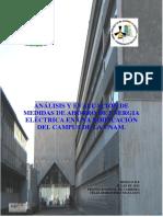 Analisis y Evaluacion de Medidas de Ahorro de Energia Electrica en Una Edificacion Unam