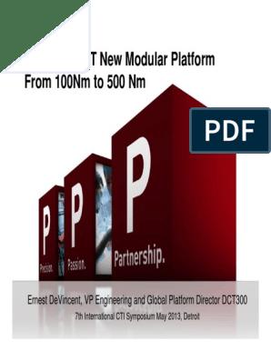 Presentation 7DCT300 | Transmission (Mechanics) | Clutch