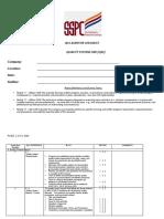 Qs 1 Audit Checklist
