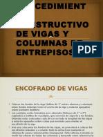 Procedimiento Constructivo de Vigas y Columnas de Entrepisos