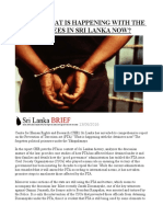 Report What is Happening With the Pta Detainees in Sri Lanka Now
