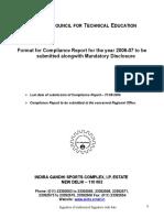 Complaince Report Format