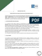 Edital de Processo Seletivo Cursos Tecnicos Senai 2015.2