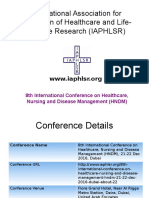 8th International Conference on Healthcare, Nursing and Disease Management (HNDM)