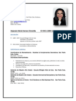 Curriculum Vitae Alejandra Herrera.