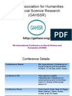 8th International Conference on Social Science and Humanities (ICSSH)