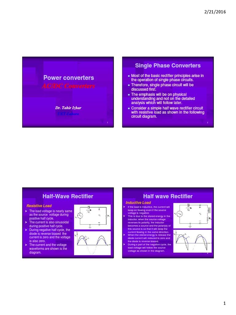Ac Dc Converterspdf Rectifier Direct Current Positive And Negative Voltage Converter 1 Circuit Diagram