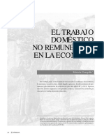 Trabajo Domestico No Remunerado En La Economía