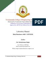 Data Structures Lab Manual for VTU 15CS38-DSL