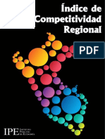 Indice de Competitividad Regional 2016 (Preliminar)