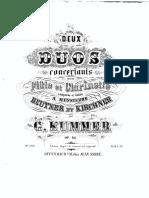 Deux Duos (G. Kummer) Flute