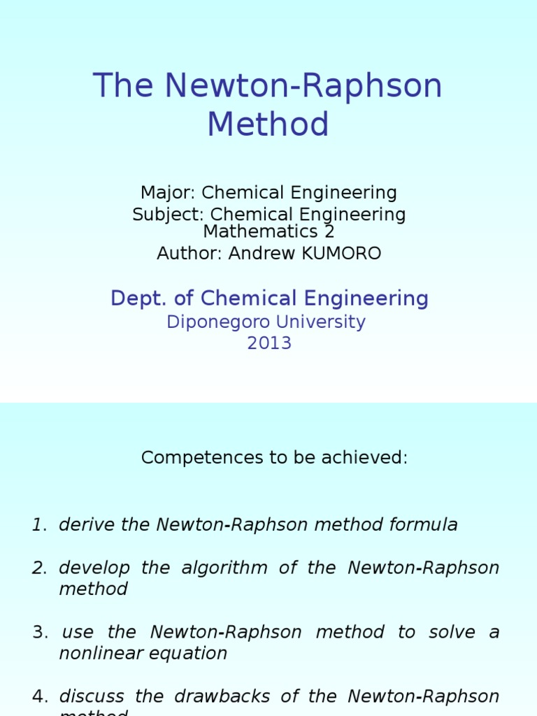 The Newton Raphson Method | Analysis | Areas Of Computer Science
