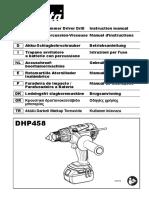 Manual Makita DHP458Z