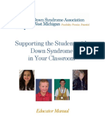 supporting the student with down syndrome in your classroom-teacher manual