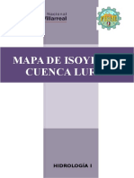 Isoyetas Cuenca Lurín