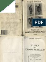 Formas Musicales Joaquin Zamacois