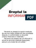 Dreptul La Informare. Bioetica si deontologie