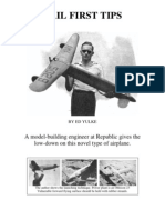Republic Tail-First - A Free-Flight Model Airplane (Fuel Engine) (Convert to R/C?)
