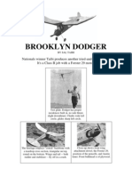 Brooklyn Dodger - A Free-Flight Model Airplane (Fuel Engine) (Convert to R/C?)