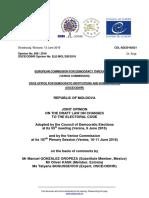 Decizia comisiei de la veneția privind alegerile prezindetaile din RM