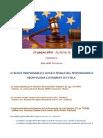 Le nuove responsabilità civili e penali del professionista - Deontologia e strumenti di tutela