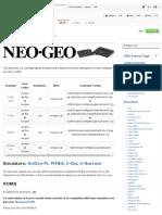 Neo Geo · RetroPie_RetroPie-Setup Wiki