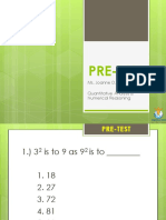 PRETEST-Quantitative Analysis & Numerical Reasoning