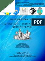 """Colocviul International """"Latinitate - Romanitate - Românitate"""""""