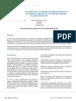 Evaluación técnico-económica de estrategias de explotación