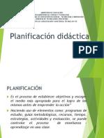 Presentación de Planificación Didáctica