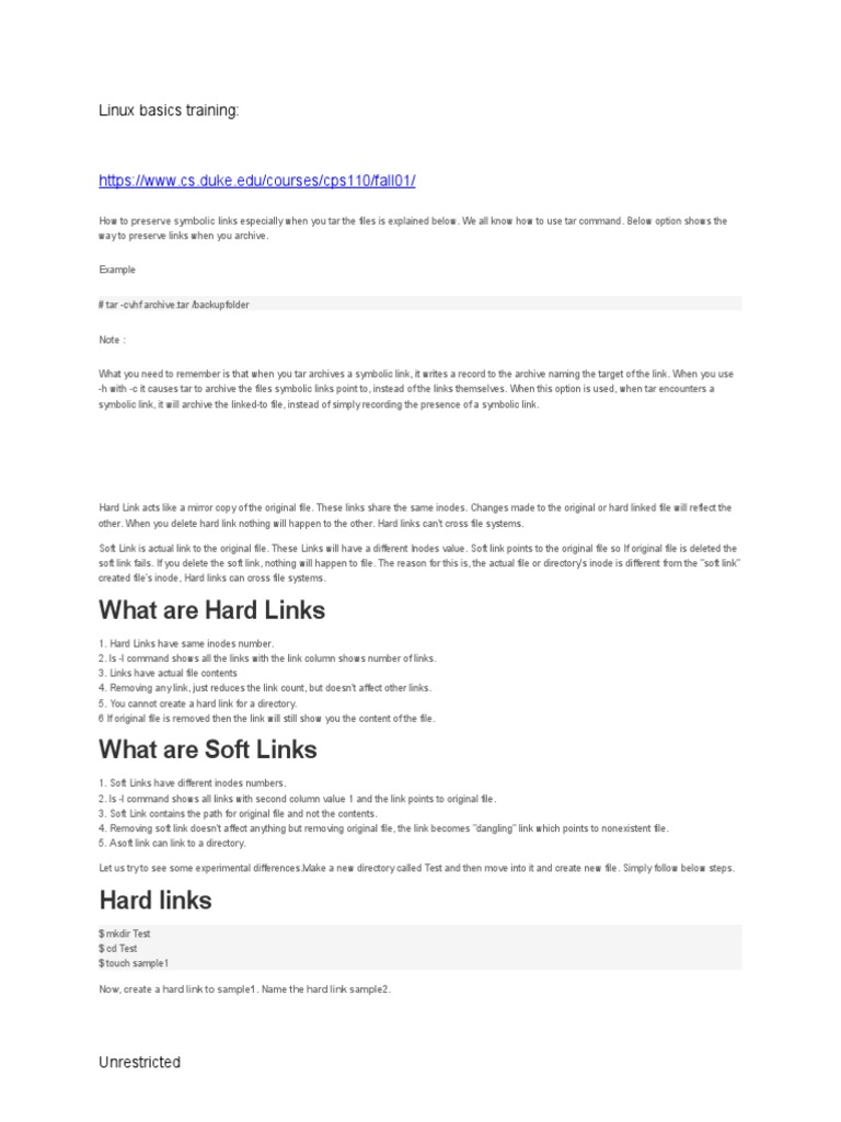 Linux basics softlink hardlinks computer file unix buycottarizona