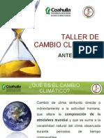 PRESENTACION DE TALLER CAMBIO CLIMATICO