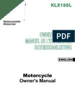 Kawasaki Klx150L Manual