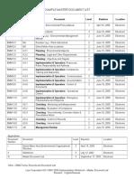 Lear-118-H Master Document List