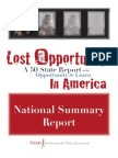 Opportunity to Learn 50 State Report