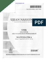 Naskah Soal UN Matematika SMK 2013 Akuntansi Dan Pemasaran Paket 1