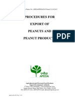 Procedure for Exports of Peanuts