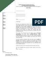 Solicit Letter Blocked Screening