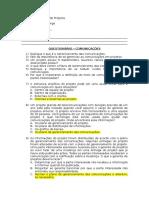 Questionário Comunicacoes - Gabarito