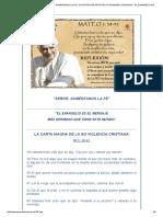 La Carta Magna de La No Violencia Cristiana. Benedicto Xvi