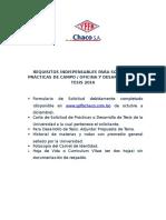 Requisitos Indispensables Para Solicitar Practicas de Campo y Oficina y Desarrollo de Tesis